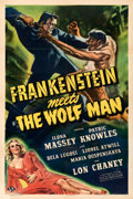Movie Posters:Horror, Frankenstein Meets the Wolf Man (Universal, 1943). Fine+ o...
