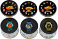 Music Memorabilia:Memorabilia, The Beatles Yellow Submarine Group of Watches (3) In Decorative Round Tins. ...