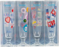 "Music Memorabilia:Memorabilia, The Beatles ""Love Collection"" Complete Set of 4 Tall-Stemmed Goblets (2005). ..."