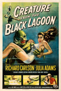 "Movie Posters:Horror, Creature from the Black Lagoon (Universal International, 1954). Fine/Very Fine on Linen. One Sheet (27.25"" X 41""). Albert Ka..."
