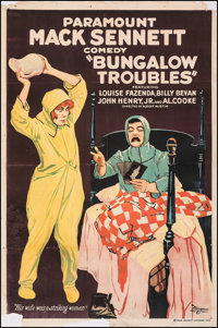 """Bungalow Troubles (Paramount, 1920). Very Good on Linen. One Sheet (27.5"""" X 41.5""""). Comedy. From the Collectio..."""