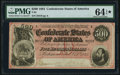 T64 $500 1864 PF-3 Cr. 489B PMG Choice Uncirculated 64 EPQ★