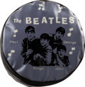 Music Memorabilia:Memorabilia, The Beatles Black/Blue Foot Stool. ...
