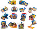 Music Memorabilia:Memorabilia, The Beatles Yellow Submarine Christmas Ornaments (14) (circa 2000s)....