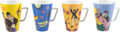 Music Memorabilia:Memorabilia, The Beatles Yellow Submarine Royal Bellevue Porcelain Mugs (4). ...