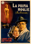 "Movie Posters:Hitchcock, Rebecca (Generalcine, 1941). Fine on Linen. Italian 4 - Fogli (55"" X 77"") Ghedini Artwork.. ..."