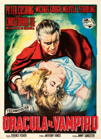 "Horror of Dracula (Universal International, 1958). Fine+ on Linen. Italian 2 - Fogli (39.25"" X 55"")"