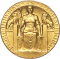 "German States:Hamburg, German States: Hamburg. Free City gold ""City Hall"" Medal of 100 Marks 1907 MS64+ PCGS, ..."