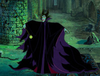 Sleeping Beauty Maleficent Production Cel with Master Production Background (Walt Disney, 1959)