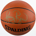 Basketball Collectibles:Balls, Larry Bird Signed Basketball, Upper Deck Authenticated....