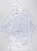 Boxing Collectibles:Autographs, Mike Tyson Signed Robe....