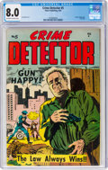 Golden Age (1938-1955):Crime, Crime Detector #5 (Timor, 1954) CGC VF 8.0 Off-white to white pages....