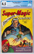 Golden Age (1938-1955):Adventure, Super Magic Comics #1 (Street & Smith, 1941) CGC VG+ 4.5 Off-white to white pages....