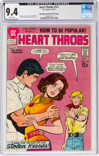 Heart Throbs #131 Murphy Anderson File Pedigree (DC, 1971) CGC NM 9.4 White pages