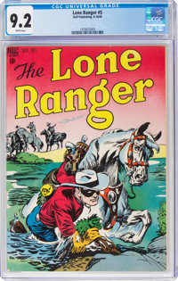 Lone Ranger #5 (Dell, 1948) CGC NM- 9.2 White pages