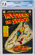 Golden Age (1938-1955):Science Fiction, Mystery in Space #5 (DC, 1952) CGC VF- 7.5 Off-white to white pages....