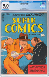 Super Comics #8 (Dell, 1938) CGC VF/NM 9.0 Off-white to white pages