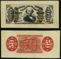 Fractional Currency:Third Issue, Fr. 1328SP Wide Margin Specimen Pair 50c Third Issue Spinner Very Fine.. ... (Total: 2 notes)
