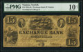 Norfolk, VA- Exchange Bank of Virginia $15 Sep. 11, 1838 G9 PMG Very Good 10 Net