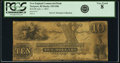 Newport, RI- New England Commercial Bank $10 July 1, 1853 G86 PCGS Very Good 08