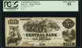 Nashville, TN- Central Bank of Tennessee, at Paris Branch $5 July 10, 1855 G46 PCGS Choice About New 55