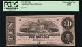 Confederate Notes:1862 Issues, T52 $10 1862 PF-2 Cr. 376 PCGS Choice About New 58.. ...
