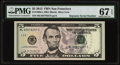 """Small Size:Federal Reserve Notes, Fr. 1996-L $5 2013 Federal Reserve Note with """"Repeater"""" Serial Number 82578257. PMG Superb Gem Unc 67 EPQ.. ..."""