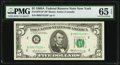 Small Size:Federal Reserve Notes, Fr. 1970-B* $5 1969A Federal Reserve Star Note. PMG Gem Uncirculated 65 EPQ.. ...