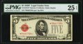 Fr. 1531* $5 1928F Narrow Legal Tender Star Note. PMG Very Fine 25 EPQ