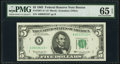 Fr. 1967-A* $5 1963 Federal Reserve Star Note. PMG Gem Uncirculated 65 EPQ