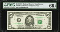 Fr. 1980-A $5 1988A Federal Reserve Note. PMG Gem Uncirculated 66 EPQ