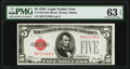 Small Size:Legal Tender Notes, Fr. 1525 $5 1928 Legal Tender Note. PMG Choice Uncirculated 63 EPQ.. ...