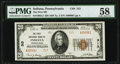 National Bank Notes:Pennsylvania, Indiana, PA - $20 1929 Ty. 2 The First National Bank Ch. # 313 PMG Choice About Unc 58.. ...