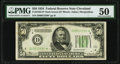 Fr. 2102-D* $50 1934 Dark Green Seal Federal Reserve Star Note. PMG About Uncirculated 50