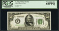 Fr. 2101-F $50 1928A Dark Green Seal Federal Reserve Note. PCGS Very Choice New 64PPQ