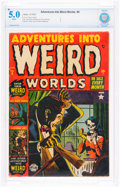 Golden Age (1938-1955):Horror, Adventures Into Weird Worlds #9 (Atlas, 1952) CBCS VG/FN 5.0 White pages....