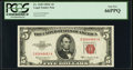 Small Size:Legal Tender Notes, Fr. 1535 $5 1953C Legal Tender Note. PCGS Gem New 66PPQ.. ...
