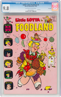 Little Lotta Foodland #6 File Copy (Harvey, 1964) CGC NM/MT 9.8 Off-white to white pages