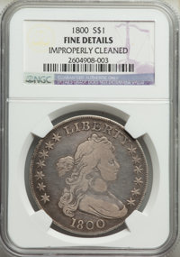 1800 $1 -- Improperly Cleaned -- NGC Details. Fine. NGC Census: (34/645). PCGS Population: (78/1077). Fine 12. Mintage 2...