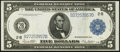 Large Size:Federal Reserve Notes, Fr. 851a $5 1914 Federal Reserve Note Extremely Fine.. ...