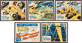 Memorabilia:Print, Victory Through Air Power Lobby Cards Group of 5 and 2 First Edition Books (Walt Disney, 1942/1943). ... (Total: 7 Items)