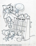 Original Comic Art:Covers, Whitman Staff Artist - Tom and Jerry Comics Cover Original Art(Whitman, 1976). Jerry and Tuffy decide to roast some marshma...