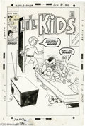 Original Comic Art:Covers, Unknown Artist - Li'l Kids #1 Cover Original Art (Marvel, 1970).Kids love monster movies -- even if said flicks scare the p...(Total: 2 items Item)