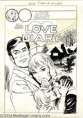 Original Comic Art:Covers, Unknown Artist - Love Diary #103 Cover Original Art (Charlton,1976). Since Love Diary was cancelled with issue #102, we...