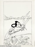 "Original Comic Art:Covers, Unknown Artist - Mighty Mouse #72 Cover Original Art (Pines, 1957).Hey, they don't call him ""Mighty"" Mouse for nuthin' ya k..."