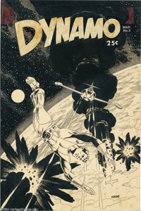 Wally Wood and Dan Adkins - Dynamo #3 Cover Original Art (Tower, 1967). Mike Benton, in Masters of Imagination, defined...