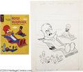 Original Comic Art:Covers, Gold Key Staff Artist - Woody Woodpecker #81 Cover Original Art(Gold Key, 1964). Woody takes a magic carpet ride on this cr...(Total: 2 items Item)