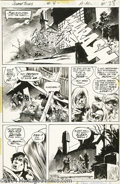 Original Comic Art:Panel Pages, Bernie Wrightson - Swamp Thing #4, page 22 Original Art (DC, 1973).A werewolf is put out of his misery in this superb actio...