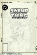 Original Comic Art:Covers, Tom Yeates - Saga of the Swamp Thing #9 Unused Cover Original Art(DC, 1983). A very striking image of the Swamp Thing writh...