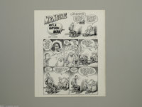 "Robert Crumb - Original Art for HUP #9, Complete 10-page Story, ""He's a Natural Man!"" Original Art (Last Gasp..."